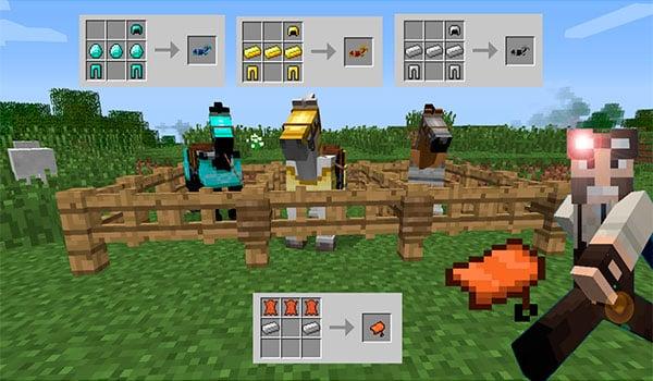 Craftable Horse Armour Saddle Mod Para Minecraft 11221112