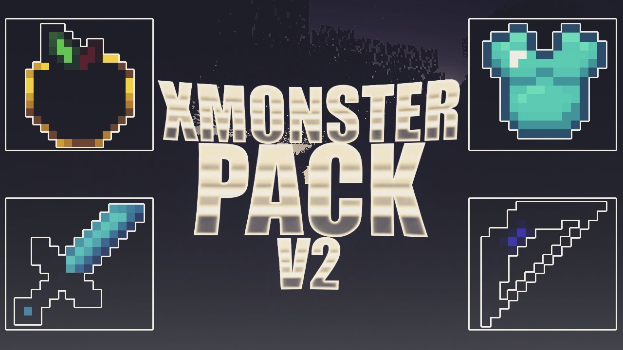 xMonster V2 PvP Texture Pack Para Minecraft 1.8.X y 1.9.X ...