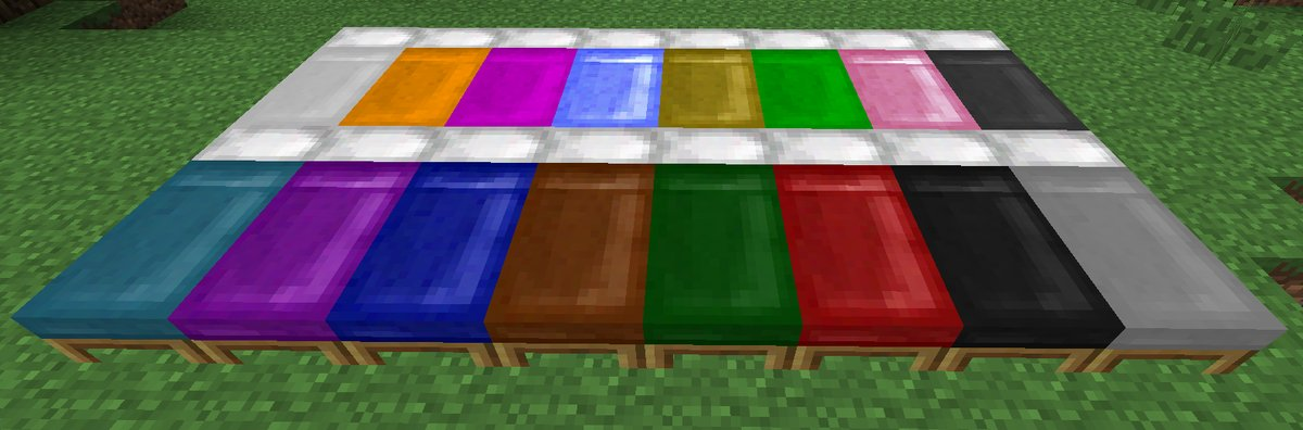 Minecraft 1.12 camas de color