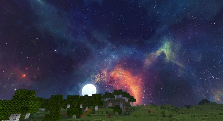 текстуры красивый космос небе для майнкрафт